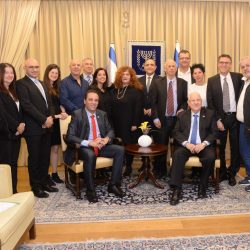 בתאריך ה 3.1.2018 בצהריים אירח נשיא המדינה, מר ראובן ריבלין, משלחת מטעם לשכת העצמאים בישראל